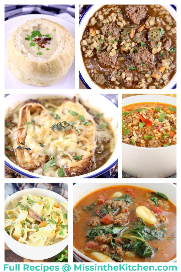 best soup recipes collage