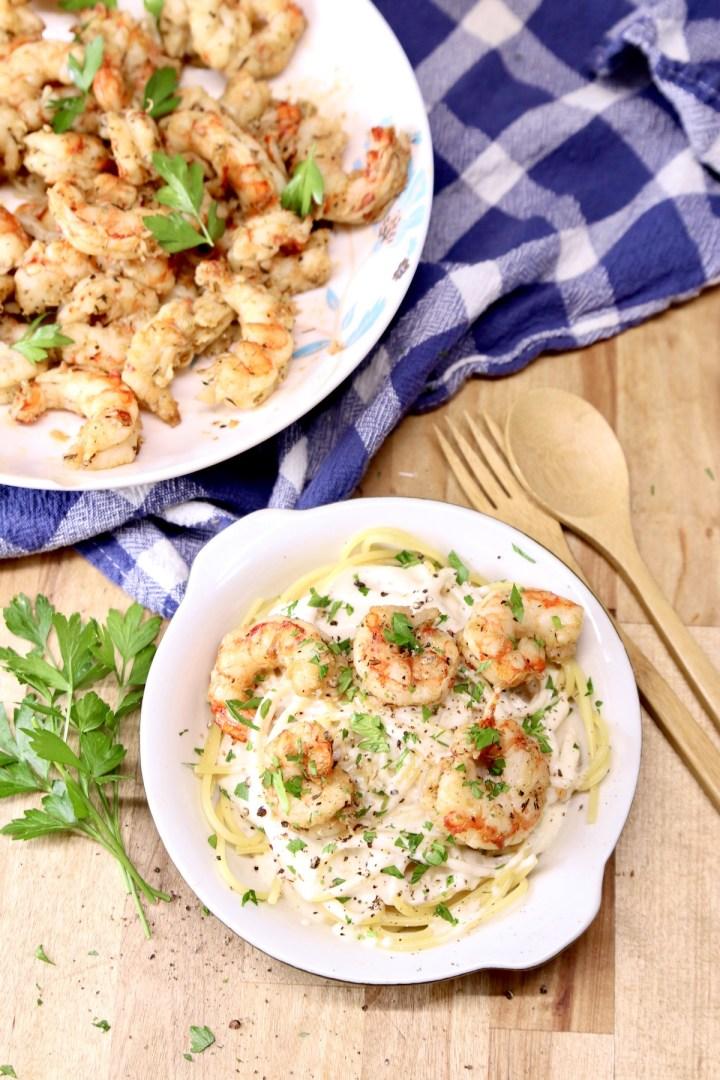 shrimp pasta with cream sauce