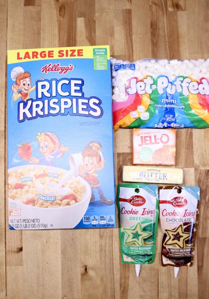 ingredients for pumpkin rice krispies treats