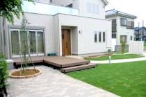 埼玉県春日部市 S様邸~大きなウッドデッキのあるお庭