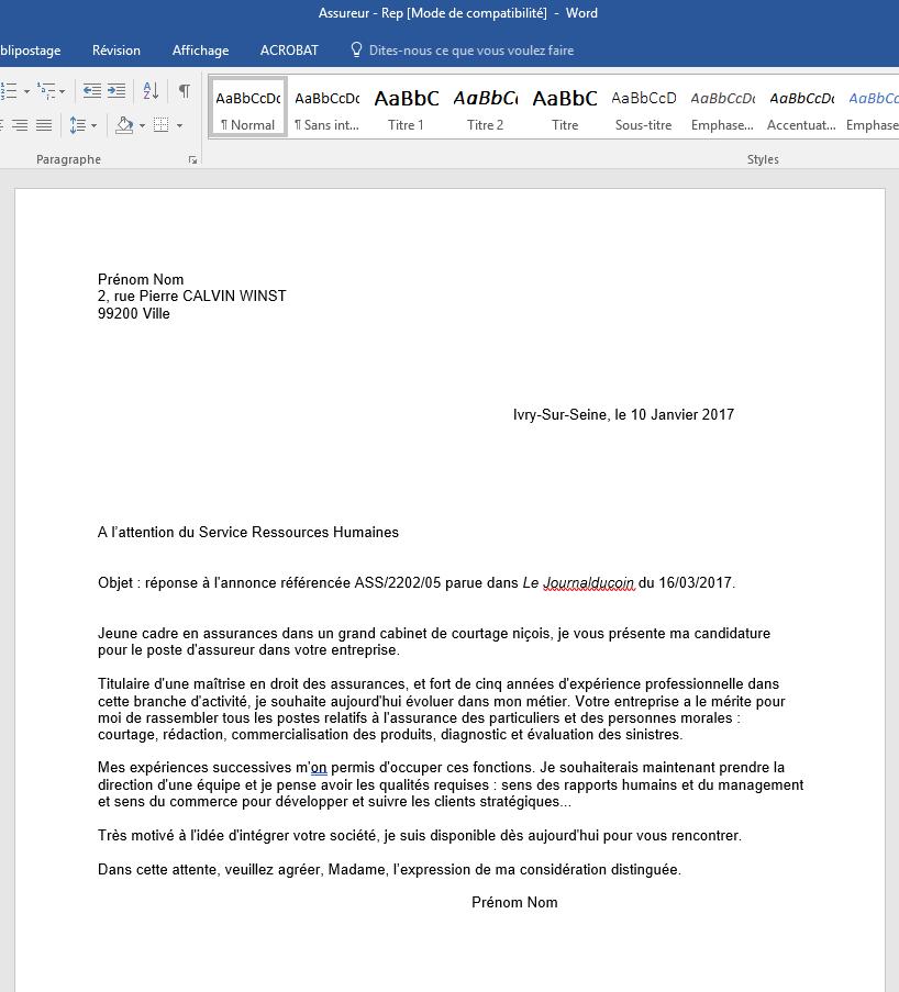 exemple lettre de motivation mission locale exemple de lettre