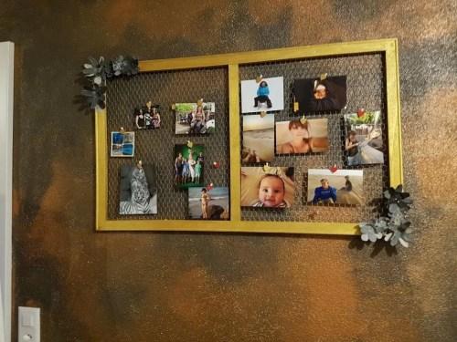 DIY Pinnwand aus Holz und Hühnerdraht