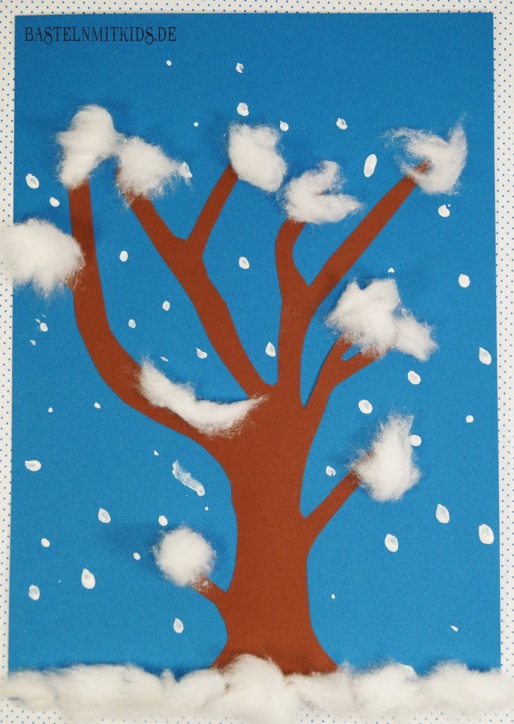 Basteln im Winter, Basteln mit Kindern und Kleinkindern im Winter, Mission Mom