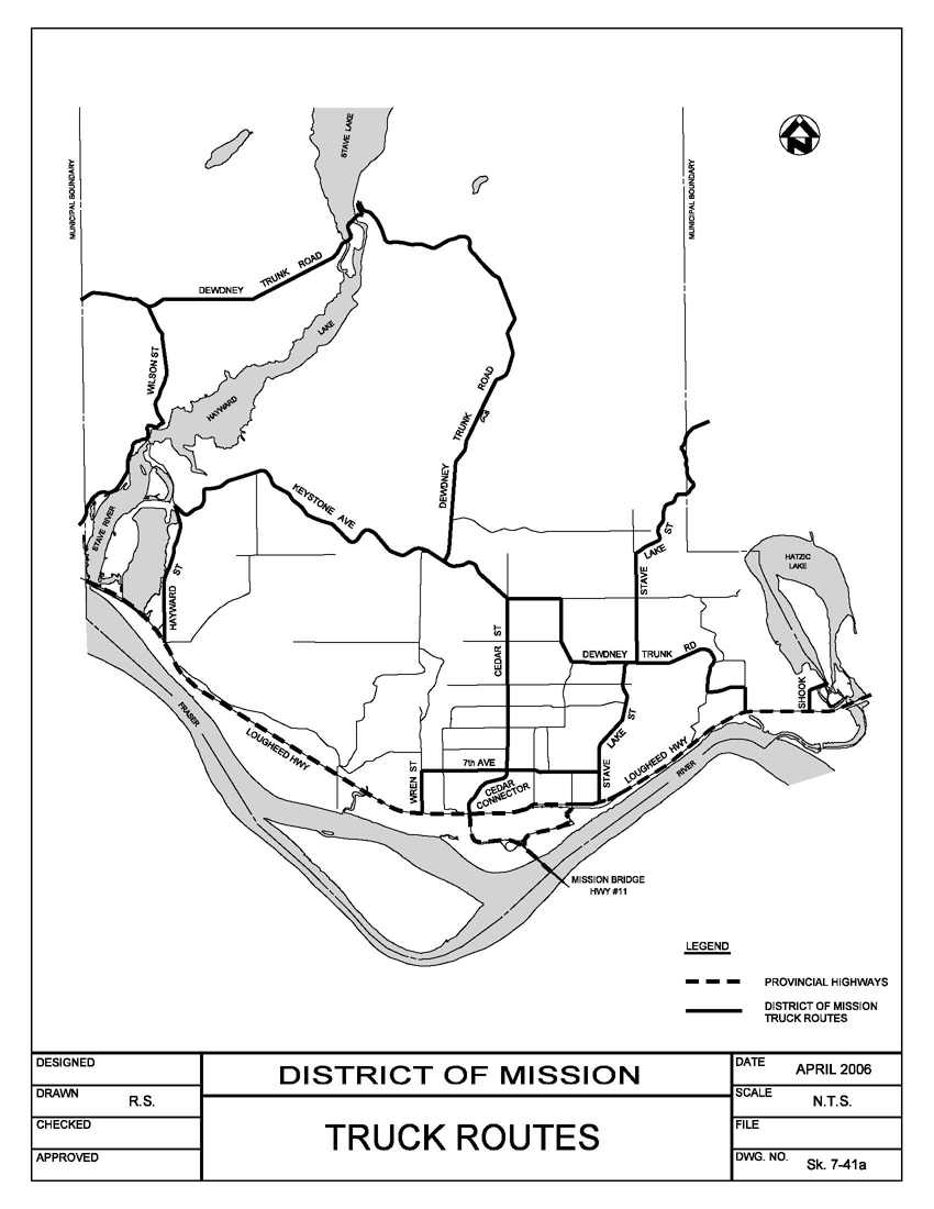 Truck Routes District Of Mission BC - Truck route us map