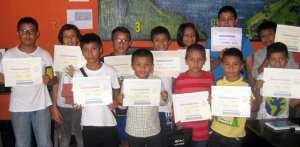 Students with perfect attendance in our Vocational Educational Training Center