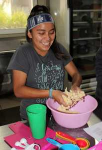 Cooking classes for children from the orphanage Fundaninos as part of our life skills classes