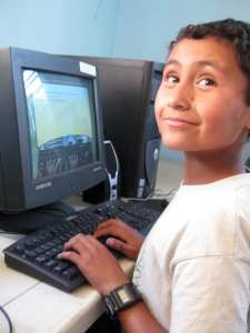 Geovanni in computer class