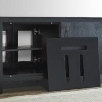Cambridge 72 Black Media Cabinet | Mission Hills Furniture