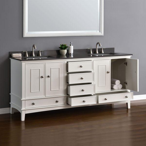 "Cambridge 72"" White Double Sink Vanity Mission Hills"