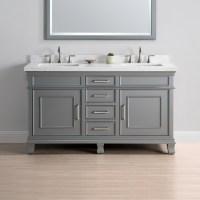 60 Double Vanity | 60 Bathroom Vanity Double Sink | 60 ...