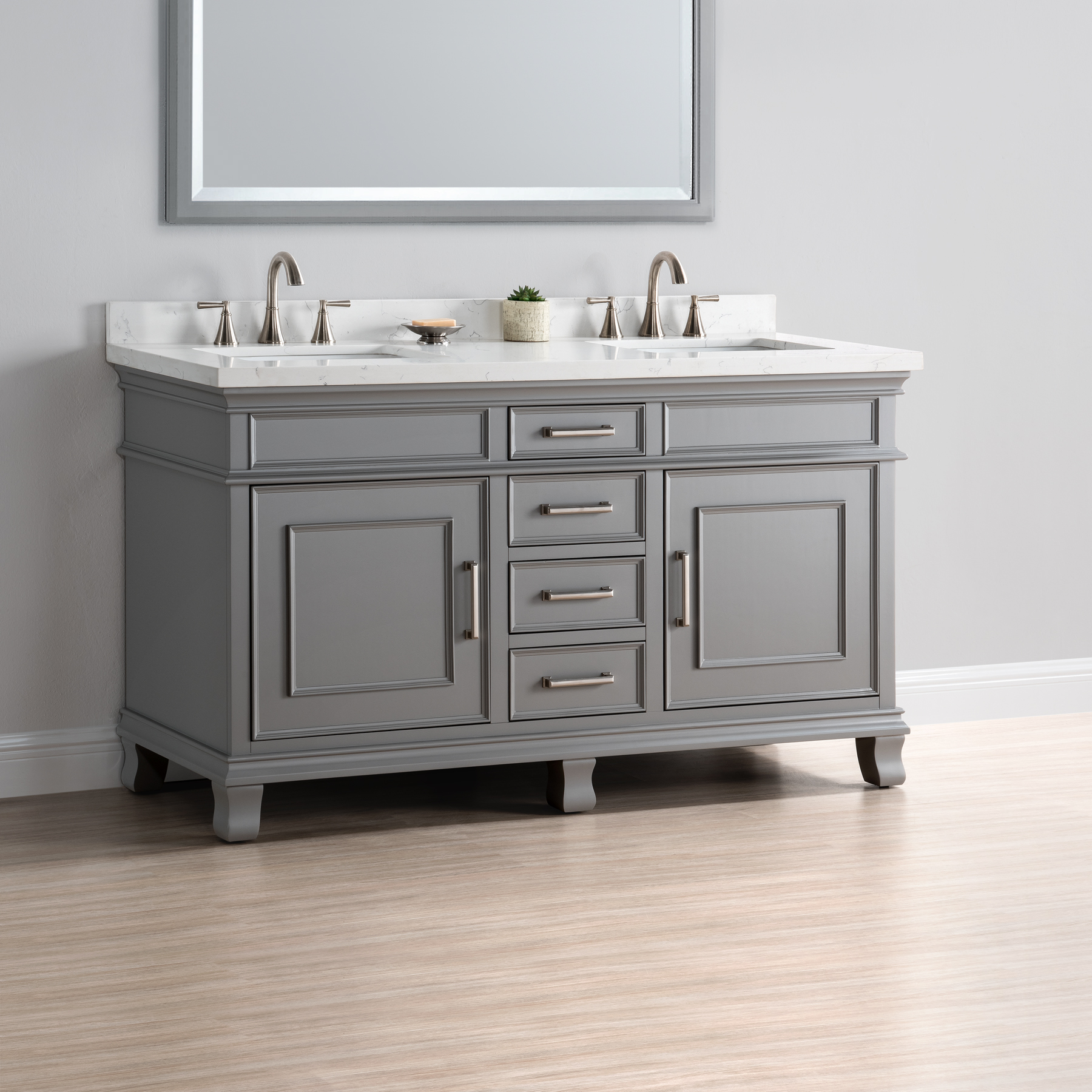 Charleston 60 Double Sink Vanity  Mission Hills Furniture