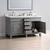 "Charleston 60"" Double Sink Vanity | Mission Hills Furniture"
