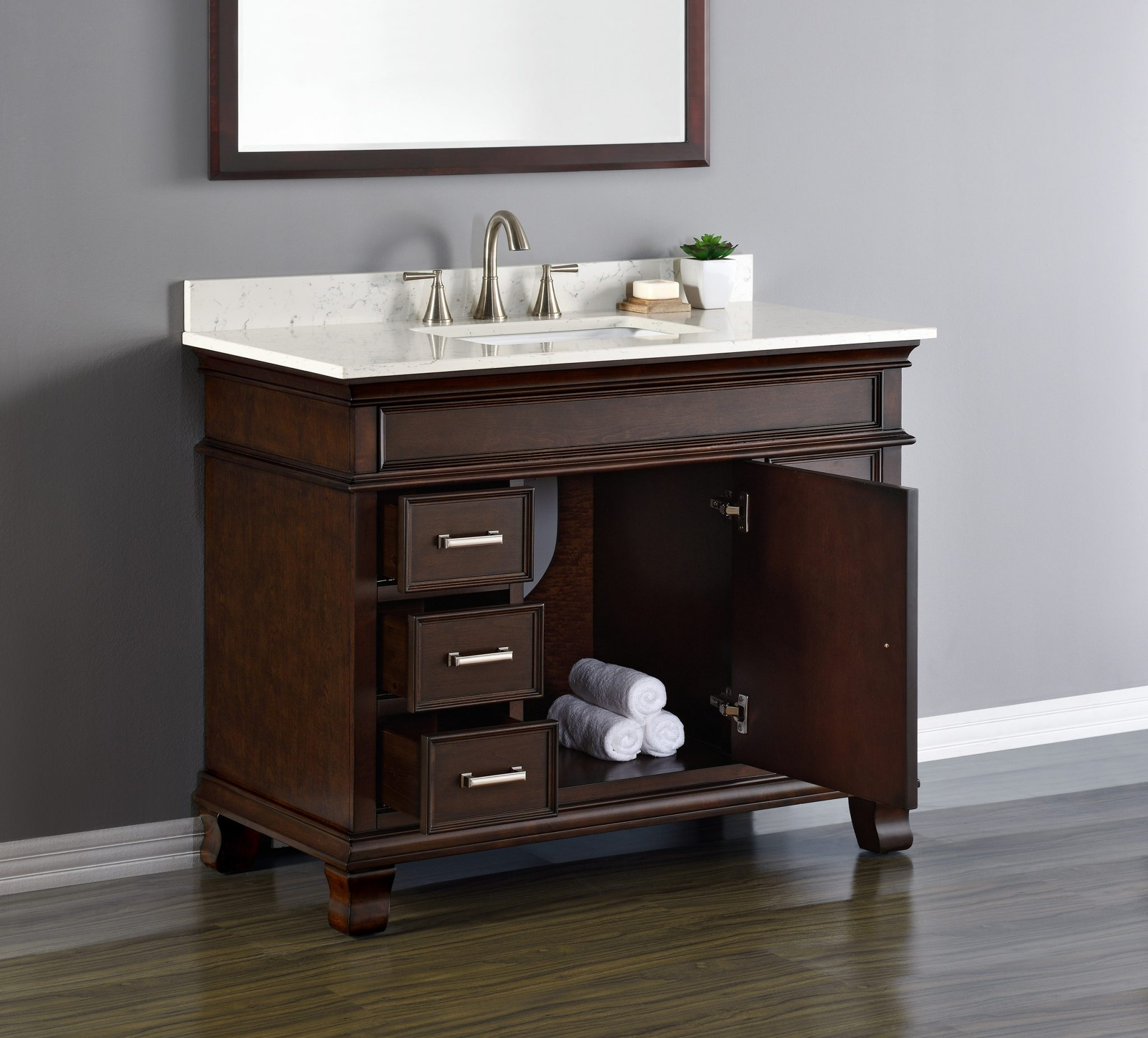 Camden 42 Single Sink Vanity  Mission Hills Furniture