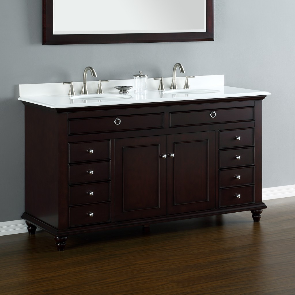 Mayfield 60 Double Sink Vanity  Mission Hills Furniture