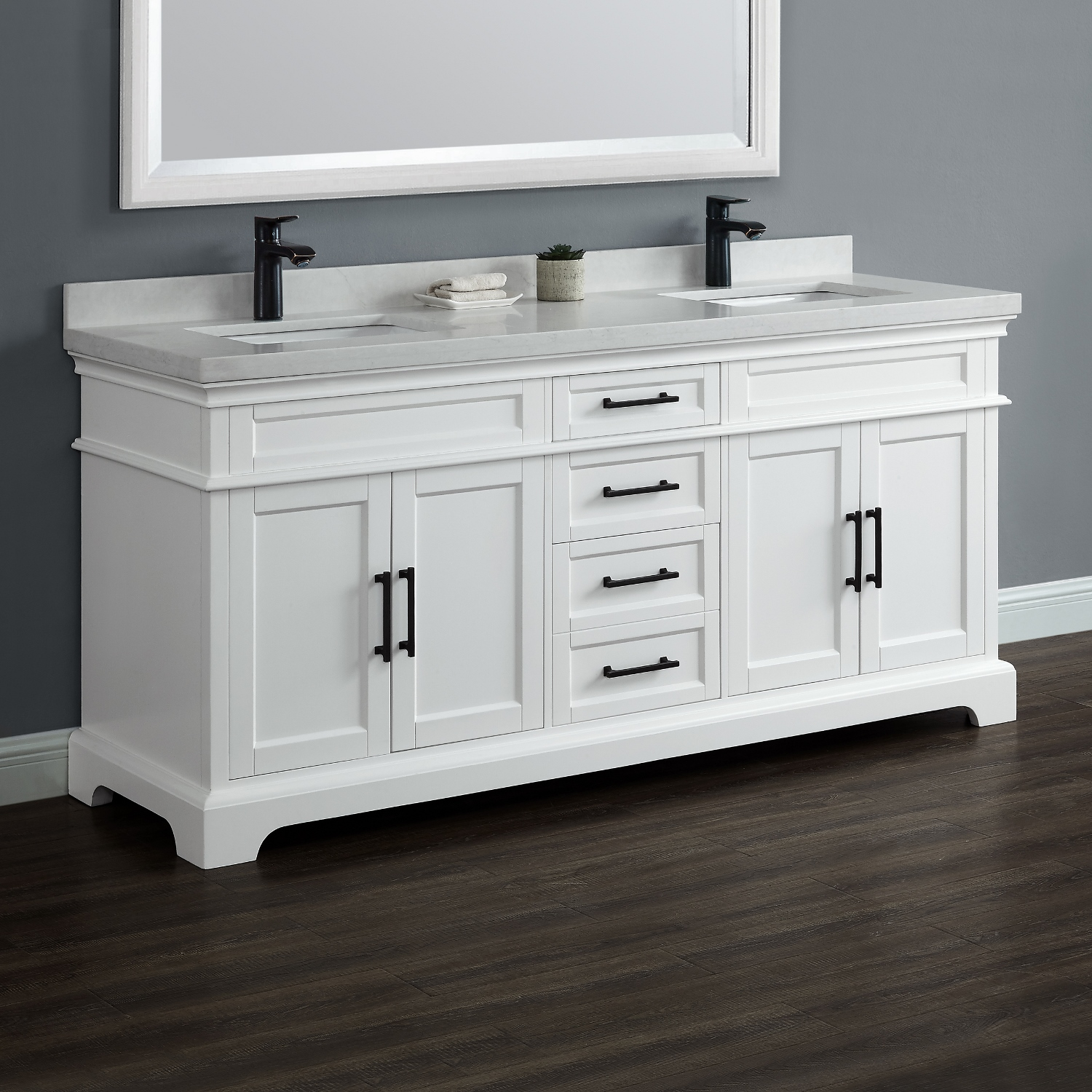 Chandler 72 Double Sink Vanity  Mission Hills Furniture