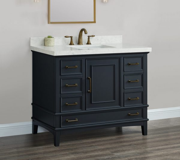 Parker 42 Midnight Single Sink Vanity  Mission Hills