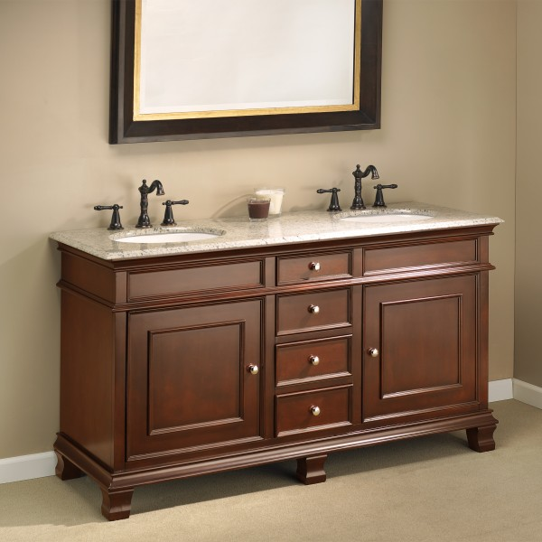 "manhattan 60"" double sink vanity 