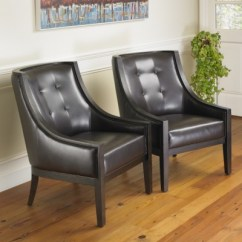 Leather Accent Chairs Modern Chair With Ottoman Park Avenue Bonded 2pk Mission Hills Furniture Tb74k0h6j9 400
