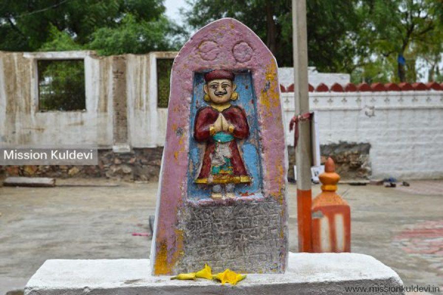 Maharao Lakhansi idol at Ashapura Mata Temple Nadol