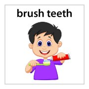 brush hair - boy mission magnets