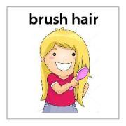 brush hair - girl mission magnets
