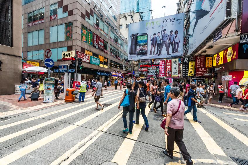 people shopping ladies market Mong Kok Kowloon Hong Kong - Media training-Mission Media U