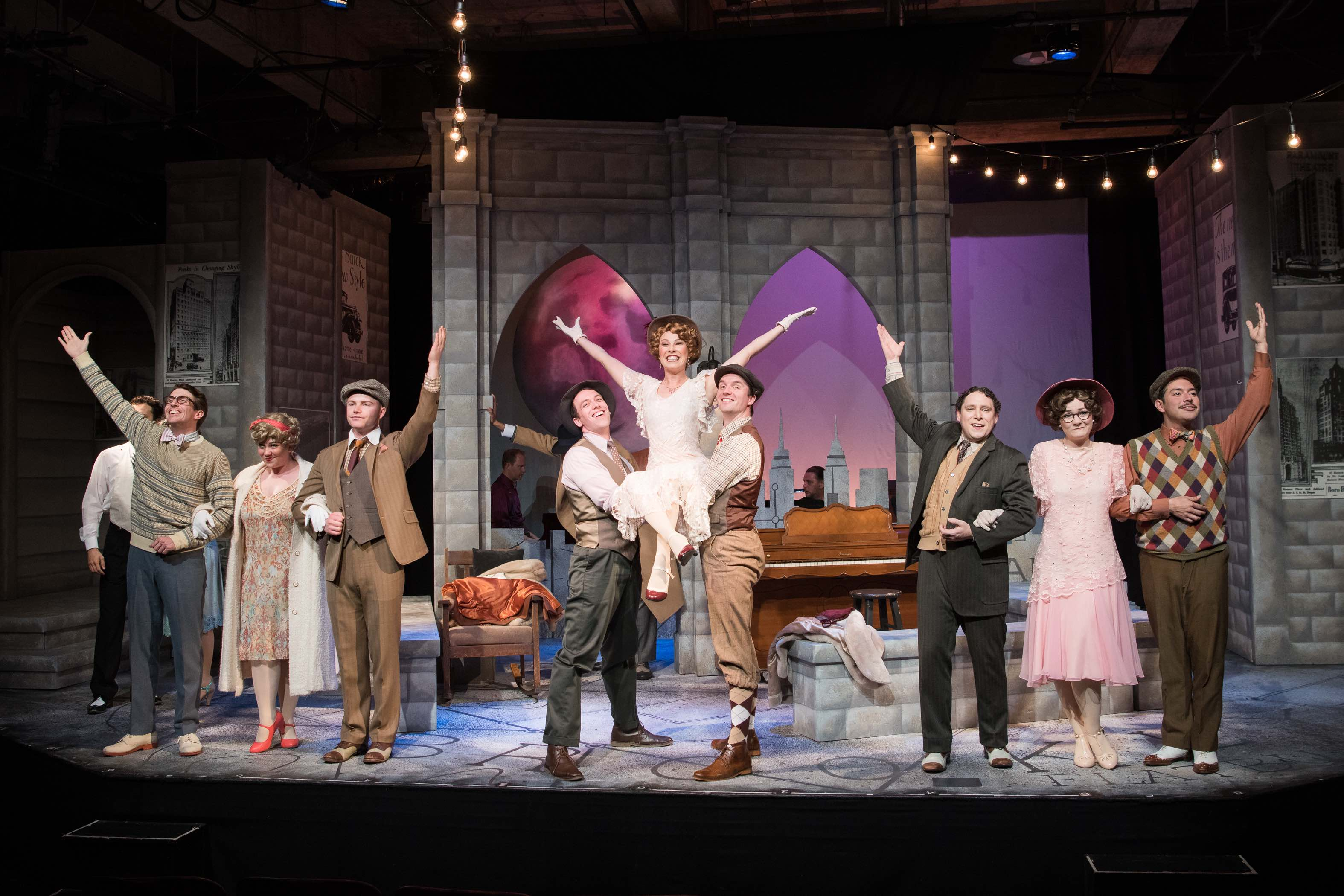 The Company of Saturday Night. Photo by Ben Krantz Studio