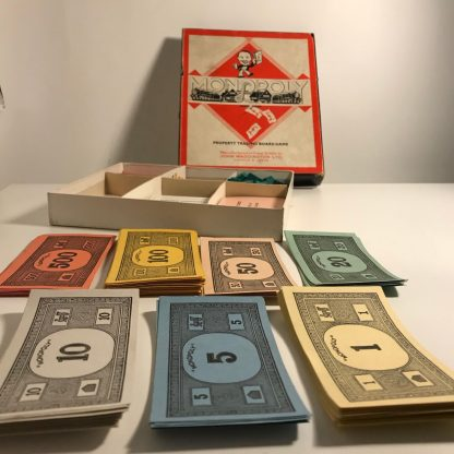 mission modern monopoly board and box j0169b