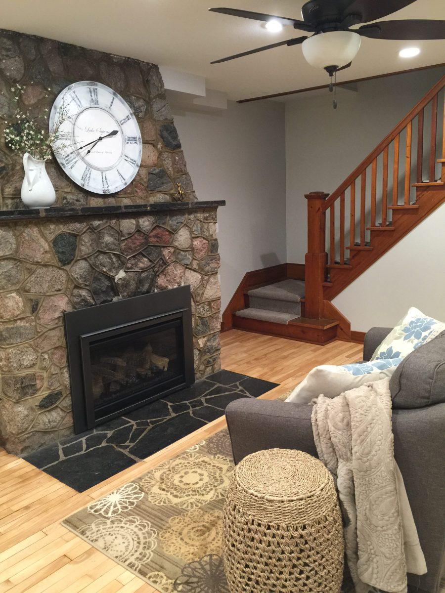 lake house fireplace