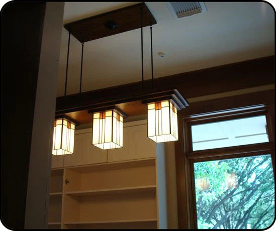 kitchen pendant lights fans with bungalow chandelier in pantry - mission studio lighting