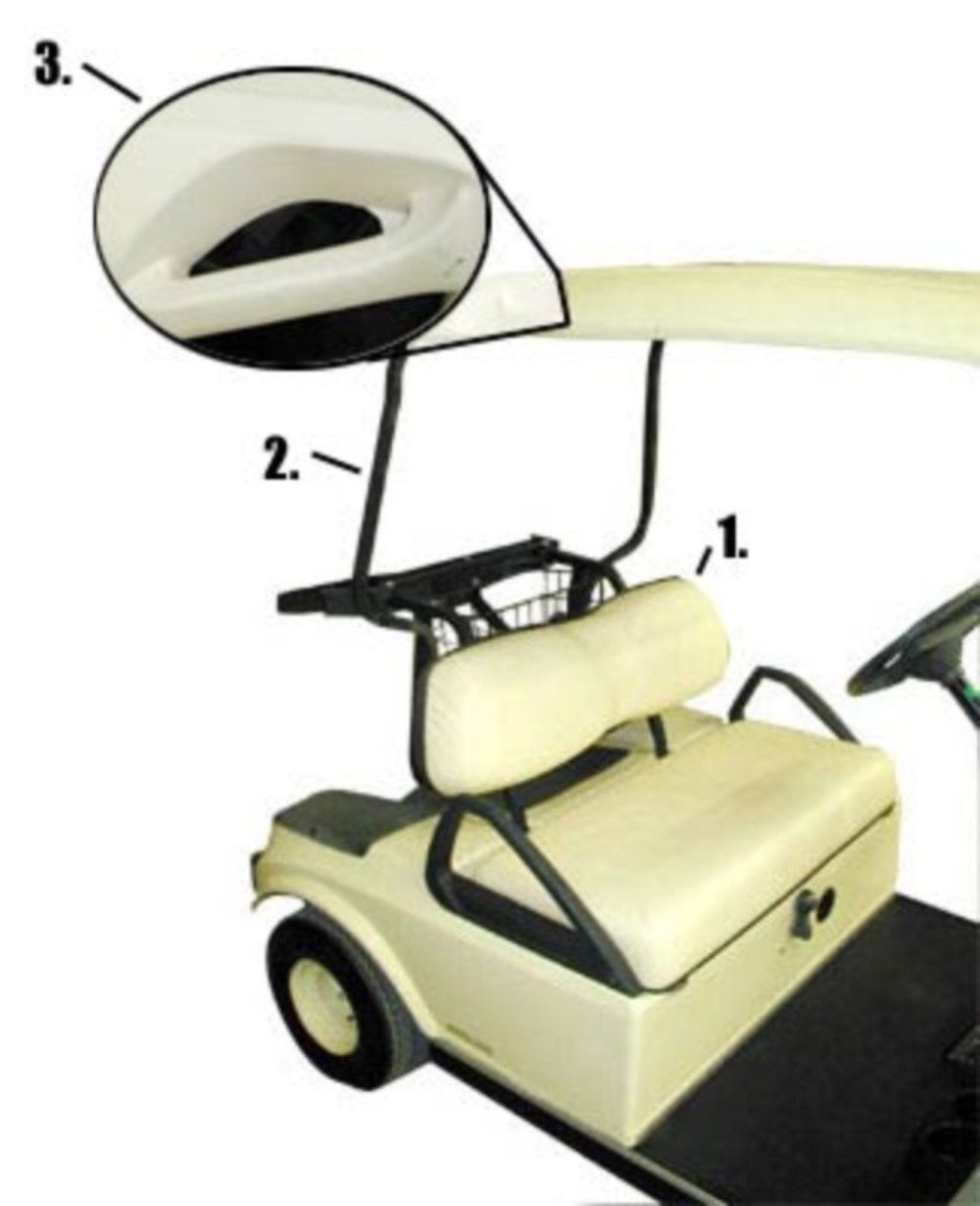 medium resolution of 1982 2000 5 club car s have two distinct seat backs while 2000 5 present models have a connected one piece seat back