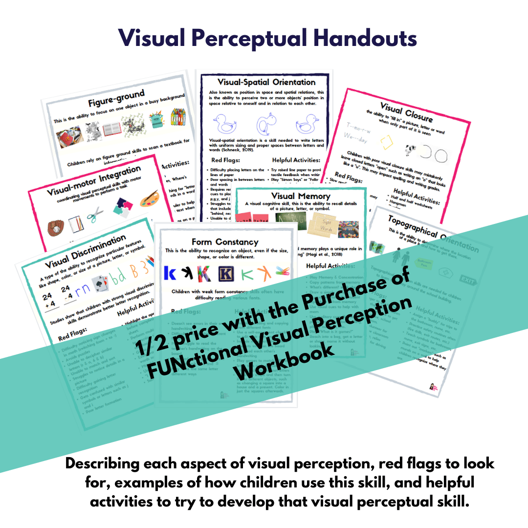 Printable Visual Perceptual Skill Information Handouts