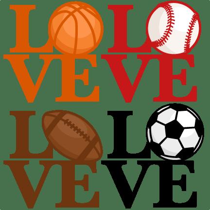 love sports titles svg scrapbook