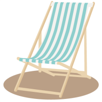 Beach Chair SVG scrapbook cut file cute clipart files for ...