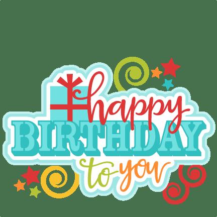happy birthday title svg
