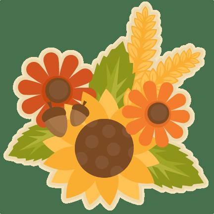 fall flower group svg scrapbook