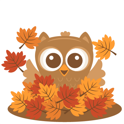owl in leaves svg scrapbook cut