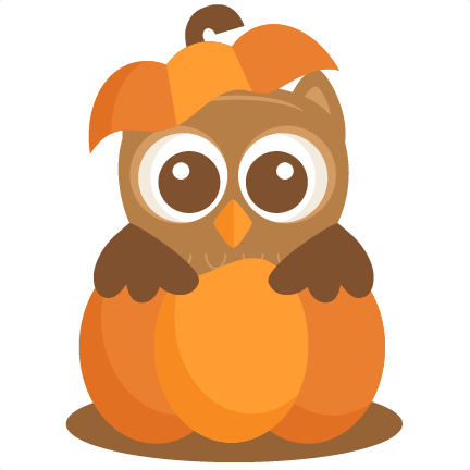 owl in pumpkin svg scrapbook cut