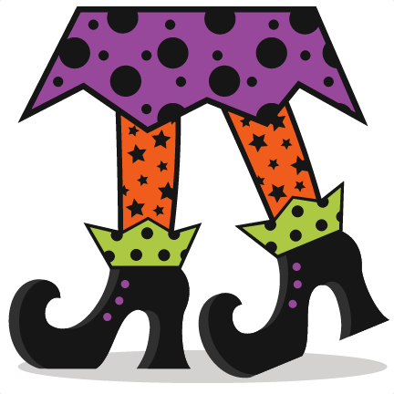 witch shoes svg scrapbook cut file