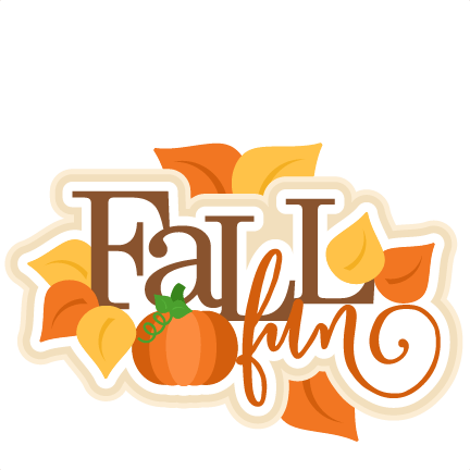 fall fun title svg scrapbook cut