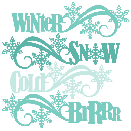 winter word titles svg scrapbook