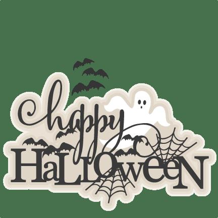 Download Happy Halloween Title SVG scrapbook cut file cute clipart ...
