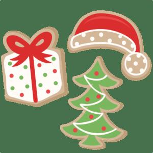 christmas cookie set svg scrapbook