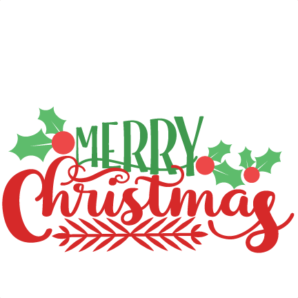 merry christmas phrase svg scrapbook