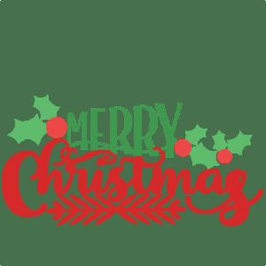 merry christmas phrase svg scrapbook