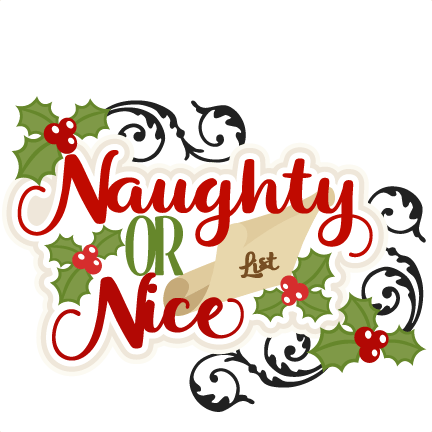 Christmas Naughty Or Nice Title SVG Scrapbook Cut File
