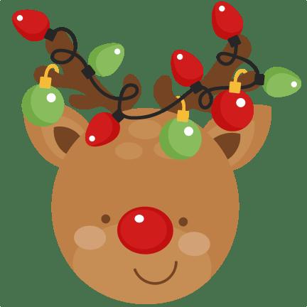 reindeer christmas svg scrapbook