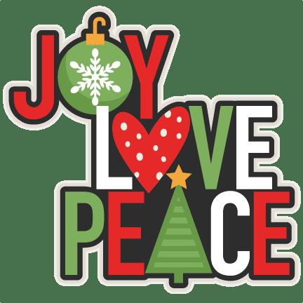 Download Joy Love Peace Christmas Title scrapbook cut file cute ...