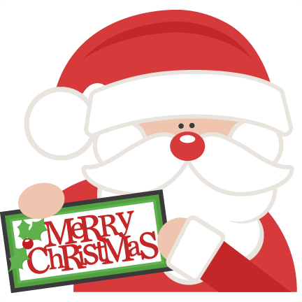 merry christmas santa svg scrapbook