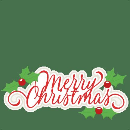 merry christmas title svg scrapbook